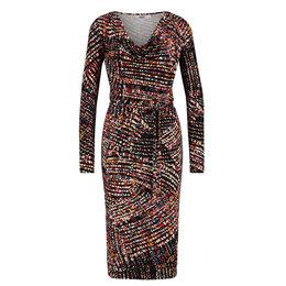IEZ! Dress Drappy Jersey Print