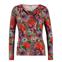 IEZ! Shirt Drappy Jersey Print