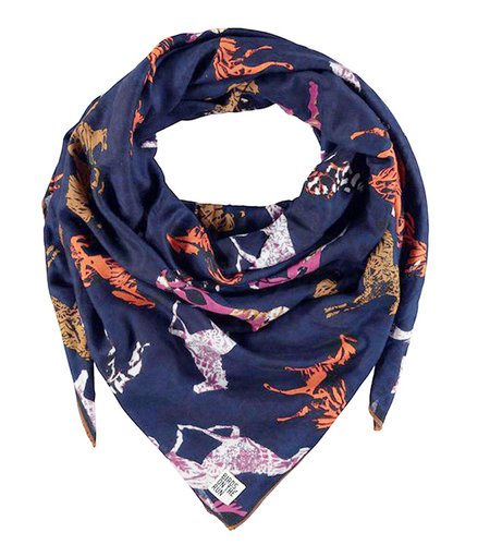 Birds On The Run Woven Printed Cotton Scarf