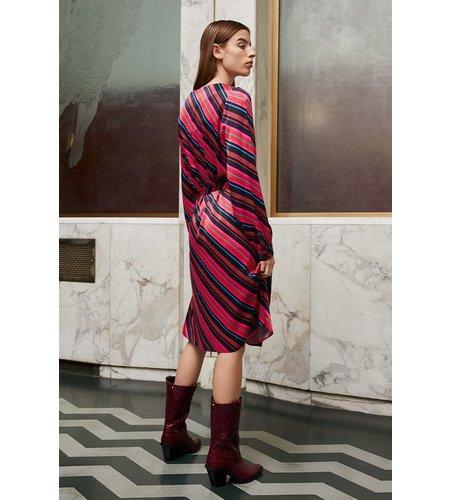 Fabienne Chapot Helen Stripe Dress Freaking fuchsia