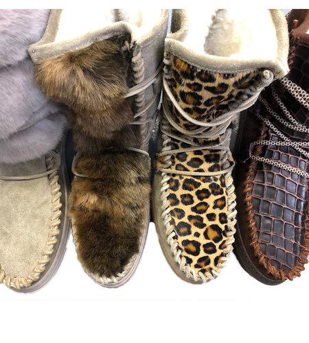 Karma of Charme Medium Ymiz Boot Taupe Leopard