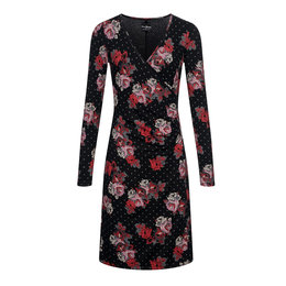 Vive Maria Flowerdots Wrapdress black allover