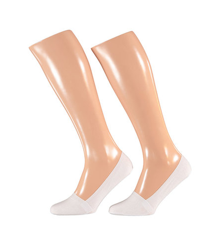 Sarlini Invisible Socks 2-Pack Jersey White