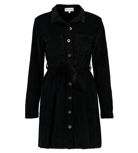 Bella Dahl Seamed Shirt Dress Black