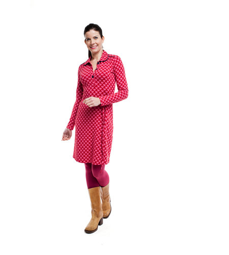 Tante Betsy Dress Trudy Hearts Pink