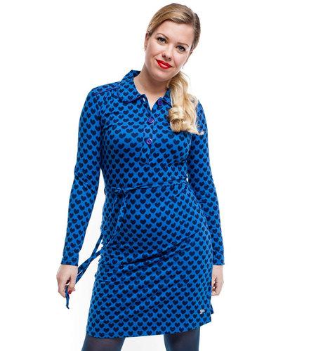 Tante Betsy Dress Trudy Hearts Navy