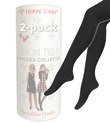 Hippe Kippe Fashion Tights 60 Denier 2-pack Black