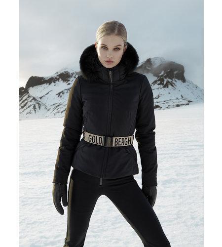 Goldbergh Hida Jacket Fake Fox Fur Black