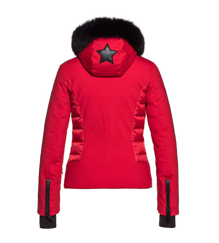 Goldbergh Kaja Jacket Fake Fox Fur Lava