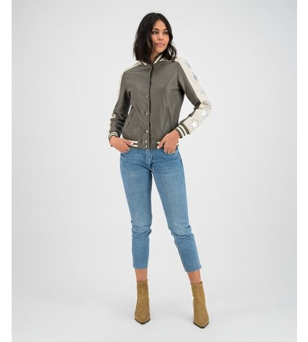 Goosecraft Bailey Star Bomber Shocked Olive And Off White
