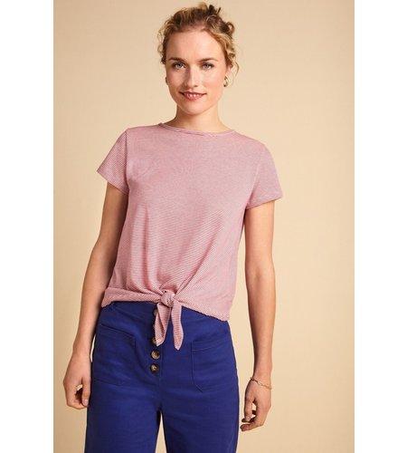 King Louie Knot T-Shirt Babylon Stripe Vivid Purple