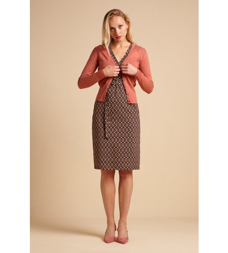 King Louie Cardi V Cocoon Dusty Rose