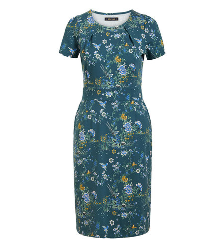 King Louie Mona Dress Griffin Dragonfly Green