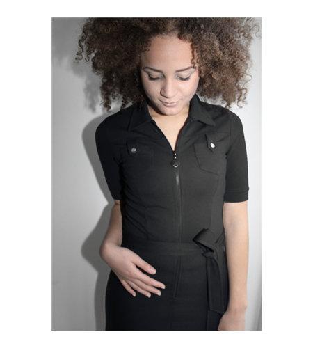 IEZ! Dress Pockets Thick Knit Black