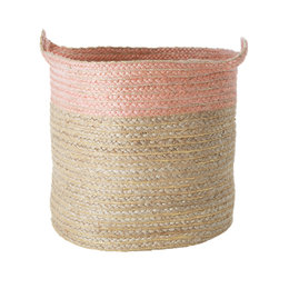 Rice Large Round Jute Storage Basket