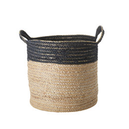 Rice Small Round Jute Storage Basket