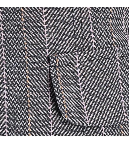 Studio Anneloes London Herringbone Blazer Black Oyster