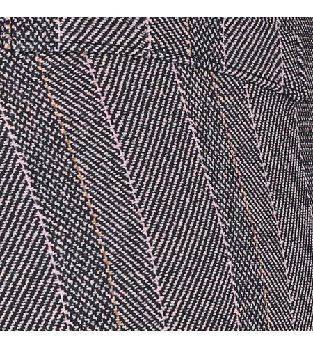Studio Anneloes Flo Herringbone Trousers Black Oyster