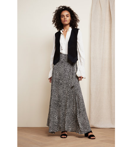 Fabienne Chapot Bobo Skirt Off White Black