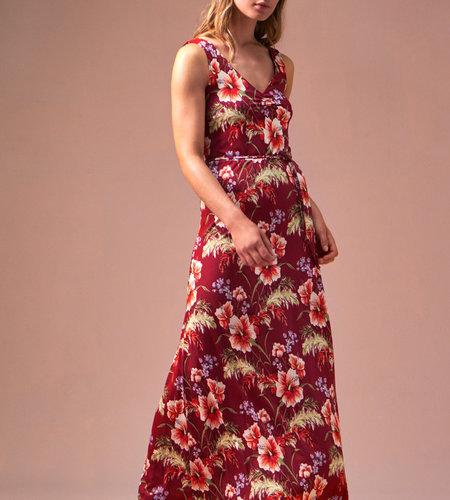 King Louie Anna Dress Colada Cherise Red