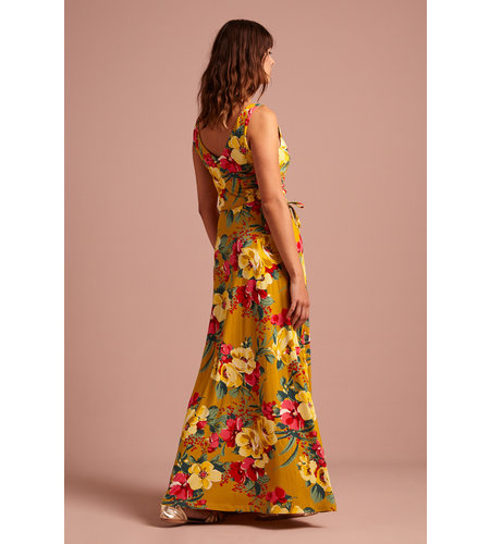 King Louie Anna Dress Maxi Lavish Spice Yellow