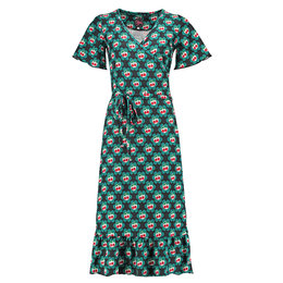 Tante Betsy Hippie Dress Cherrie in Blossom Black