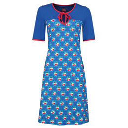 Tante Betsy Dress Sweetheart Cherrie Blue