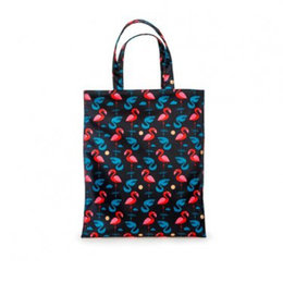 Kitsch Kitchen Marketbag Flamingo Zwart