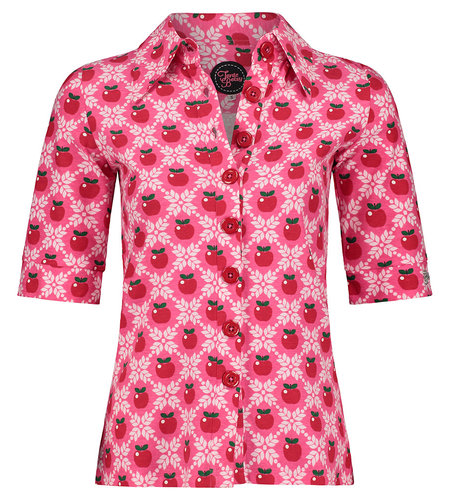 Tante Betsy Button Shirt Apple Grain Pink