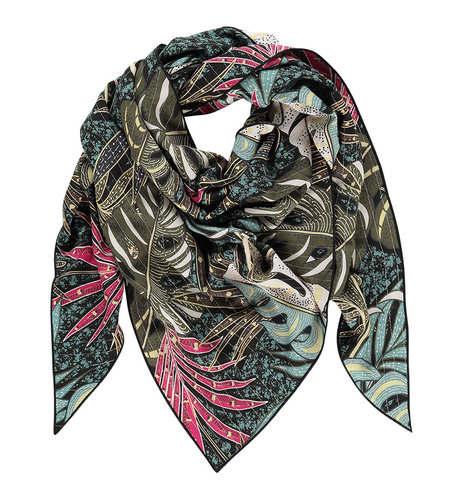 Studio Anneloes Triangle Creole Scarf Army Black