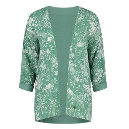 Birds On The Run Kimono Reversible Allover Tropical Design
