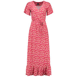 Tante Betsy Hippie Dress Long Edelweiss Red