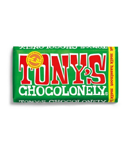 Tony's Chocolonely Melk Hazelnoot 180 gram
