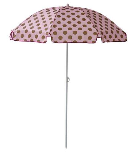 Rice Parasol Polka Dots Roze - Goud