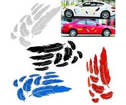Stickers voor op de Auto met Veren Design