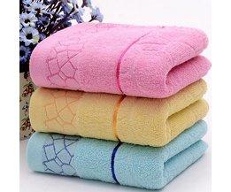 Blauwe, Gele of Roze Handdoek