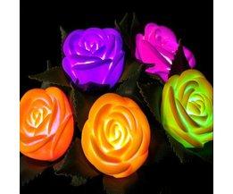 Bloemenlamp Roos LED