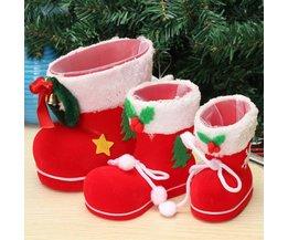 Kerstlaars om Snoep en Kleine Cadeautjes in te Doen
