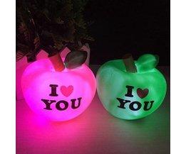 Romantisch LED nachtlicht in de vorm van een appel