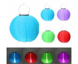 Solar LED Lantaarn In Verschillende Kleuren