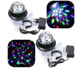 Meerkleurige LED Discobol