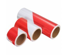 Reflecterende Tape Rood Wit
