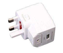 Universele reisadapter met USB