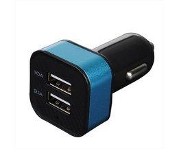 Universele Autolader Telefoon met 2 USB Poorten
