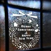 Sticker voor op Raam voor Kerst
