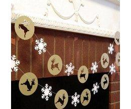 Kersthanger Met Rendieren En Sneeuwvlokken
