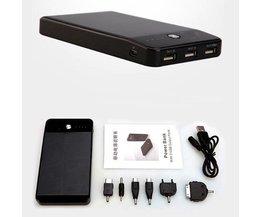 Draagbare Powerbank 10000mAH met 3 USB Poorten