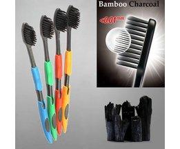 Bamboe Houtskool Tandenborstels 4 Stuks