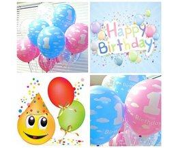 Ballonnen 1 Jaar (20 Stuks)