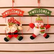 Welkomstbordje voor Kerst